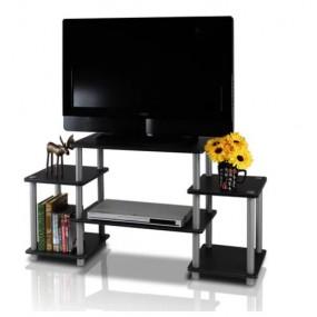 Nowoczesna szafka pod telewizor LED TV czarna komoda półka półki regał stolik RTV