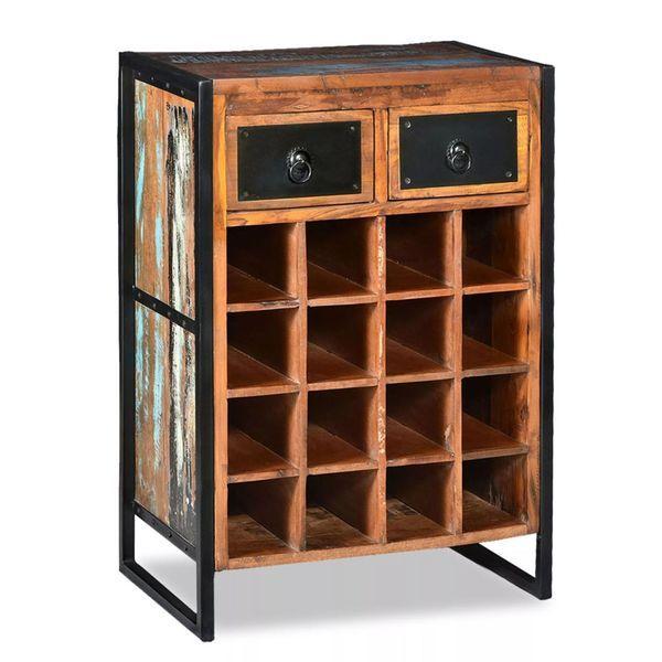 Wspaniały Stojak na wino na 16 butelek wina drewno szafka drewniana regał RW93