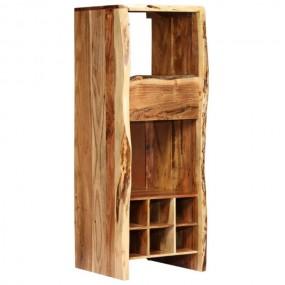 Stojak na wino na 6 butelek barek szafka regał drewno komoda witryna rustykalny styl
