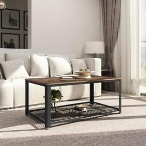 Ława stół stolik metal + drewno półka styl industrialny vintage