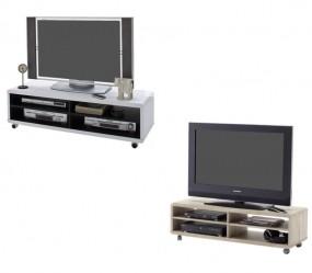 Szafka RTV stolik pod telewizor komoda pokój salon TV półka 120 cm kółka na kółkach