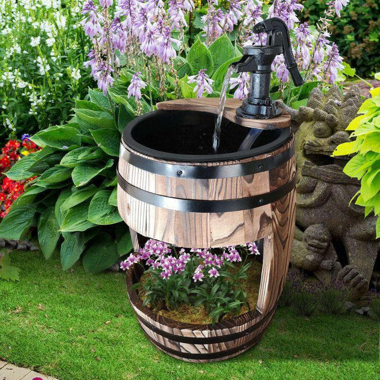 Poważne Fontanna ogrodowa kompletny zestaw ogród ozdoba tarasowa z drewna JO94
