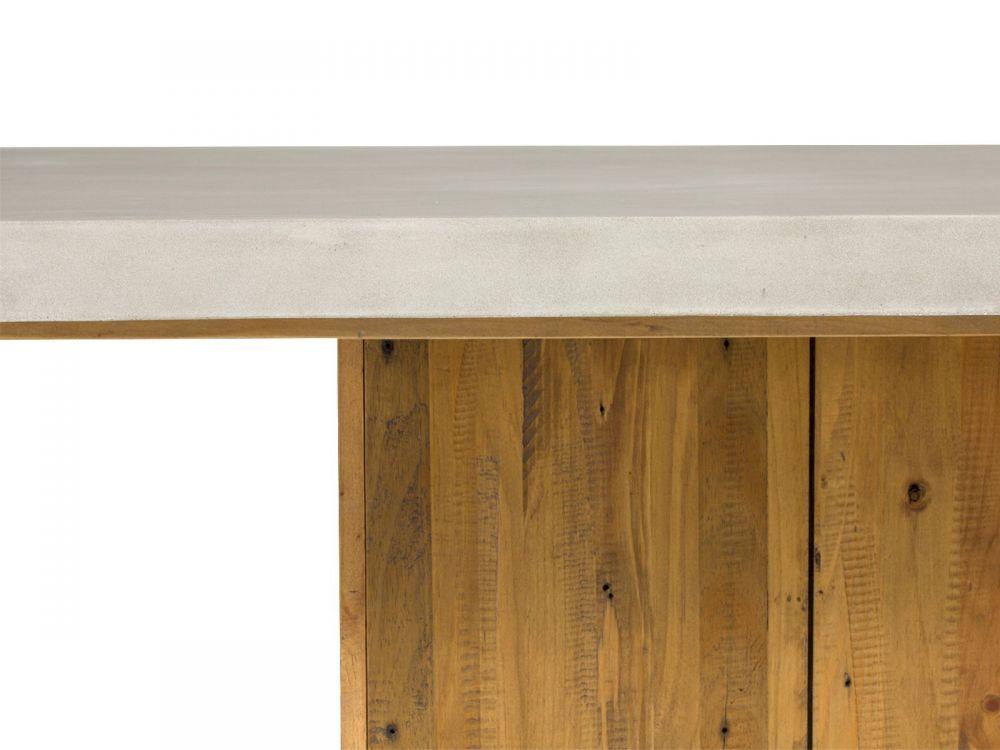 Wszystkie nowe Stół do jadalni beton drewno 200cm stolik ława gruby betonowy blat RS02