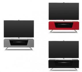 Nowoczesna szafka pod telewizor LED TV czarna szara czerwona komoda półka stolik RTV