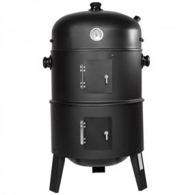 Grill węglowy 3w1 ogrodowy tarasowy metal kuchnia ogrodowa BBQ  owalny wędzarnia