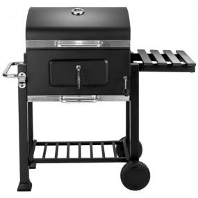 Grill węglowy mobilny ogrodowy tarasowy koła na kółkach metal kuchnia ogrodowa wędzarnia BBQ