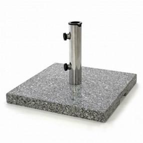 Granitowy stojak pod parasol kwadrat podstawa granit 25kg balkon ogród taras stojak na parasole meble ogrodowe szary stal