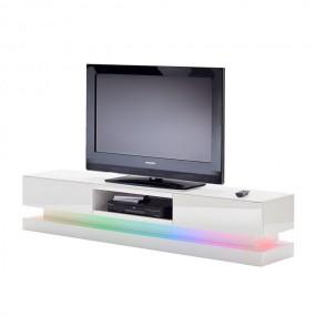Nowoczesna szafka pod telewizor 180cm  LED TV wysoki połysk biała komoda półka stolik RTV
