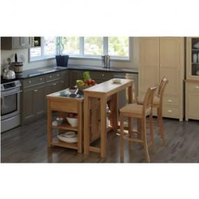Stolik barowy solidny stół drewniany do hokerów do baru jadalni kuchni naturalne drewno