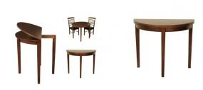 Rozkładany stół do jadalni składany okrągły drewniany