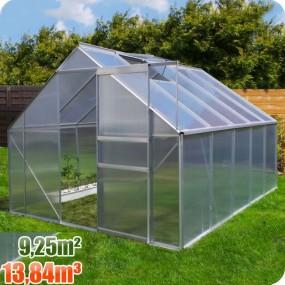 Szklarnia poliwęglanowa namiot tunel ogrodowy uprawa ogród 13,84 m3 / 9,25 m2
