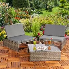 3-elementowy zestaw mebli rattanowych meble ogrodowe składane rattanowe stół z krzesłami fotelemi