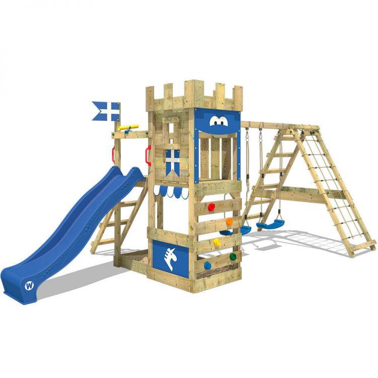 Góra Plac zabaw domek na balach dla dzieci zjeżdżalnia wodna z huśtawką BX47