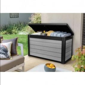 Duża skrzynia ogrodowa XL pojemnik na poduszki ławka siedzisko 380 litrów