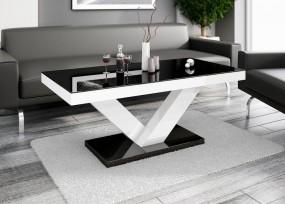 Stół do jadalni stolik ława biała czarna wysoki połysk stół glamour