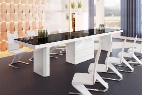 Stół do jadalni rozkładana ława duża stolik wysoki połysk  glamour