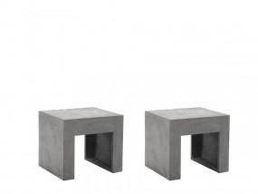 Zestaw 2 stołki betonowe stołek z betonu krzesło masywne hoker