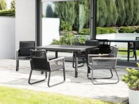 Elegancki zestaw mebli ogrodowych stół z krzesłami meble ogrodowe metalowe