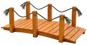 Mostek ogrodowy drewniany masywny kładka drewniana