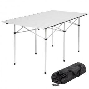 Aluminiowy stół kempingowy ogrodowy składany rolkowy lekki