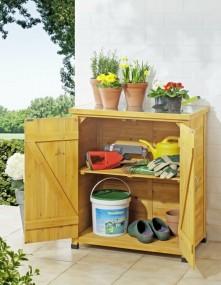Szafa ogrodowa na narzędzia stół ogrodowy roboczy regał na kwiaty szafka schowek