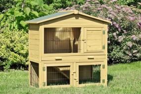 Klatka dla zwierząt dla królików dla gryzoni 2 poziomowa piętrowa