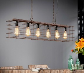Lampa sufitowa w stylu industrialnym lampa wisząca metalowa kosz