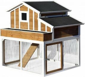 Drewniana klatka dla kur królików klatka dla zwierząt domek kurnik XXL  sosna