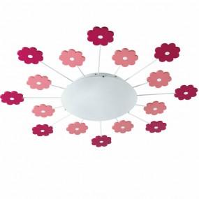 Lampa dziecięca wisząca oświetlenie do pokoju dziecięcego różowe kwiaty