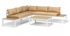 Meble ogrodowe zestaw mebli rattanowych aluminium technorattan drewno poduszki
