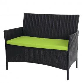Ławka ogrodowa sofa rattan polirattan szara brązowa antracyt z poduszką