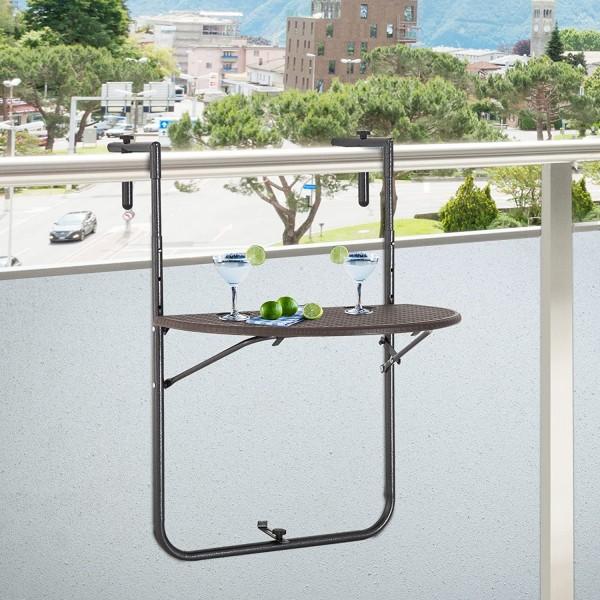Metalowy stolik ogrodowy podwieszany na balkon barierkę stół wiszący ścienny
