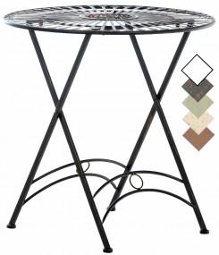 Metalowy stolik ogrodowy bistro żelazny czarny