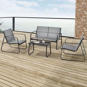 4 częściowy zestaw mebli ogrodowych stół ławka