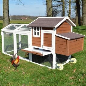 Klatka dla kur na kółkach domek dla królików świnek morskich kurnik