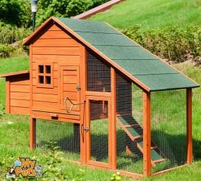Kurnik drewniany klatka dla królików kur drewno