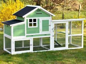 Drewniana klatka dla kur królików klatka dla zwierząt domek kurnik voliera