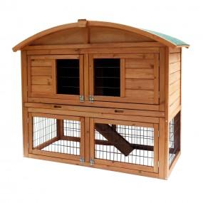 Klatka drewniana piętrowa dla królików kur gryzoni