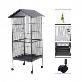 Klatka dla ptaków XL woliera dla papug 155 cm na kółkach