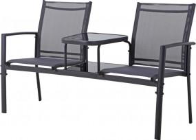 Zestaw mebli metal stolik kanapa ławka komplet