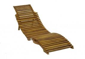 Leżak drewniany składany z akacji leżanka drewno