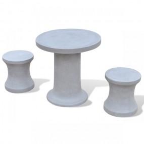 Betonowe meble ogrodowe stół + 2 hokery