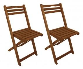 2 krzesła drewniane ogrodowe