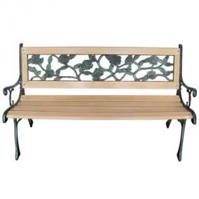 Ławka ogrodowa drewniana metalowa ławeczka