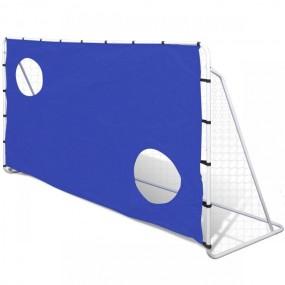 Duża metalowa bramka do piłki nożnej 240x150x92