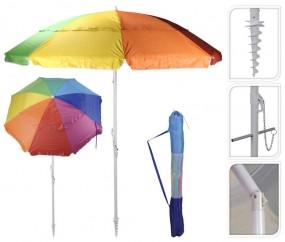 Parasol plażowy uchylny 190 cm wkręt torba