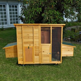 Kurnik drewniany na kółkach klatka dla kur z budkami lęgowymi klatka dla zwierząt