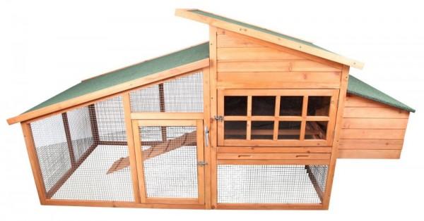 Klatka dla kur królików z zadaszonym wybiegiem 223 cm klatka dla zwierząt