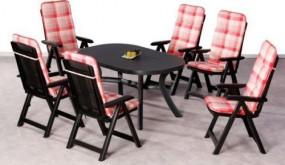 Stół + 6 krzeseł + poduszki