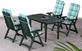 Stół + 4 krzesła + poduszki